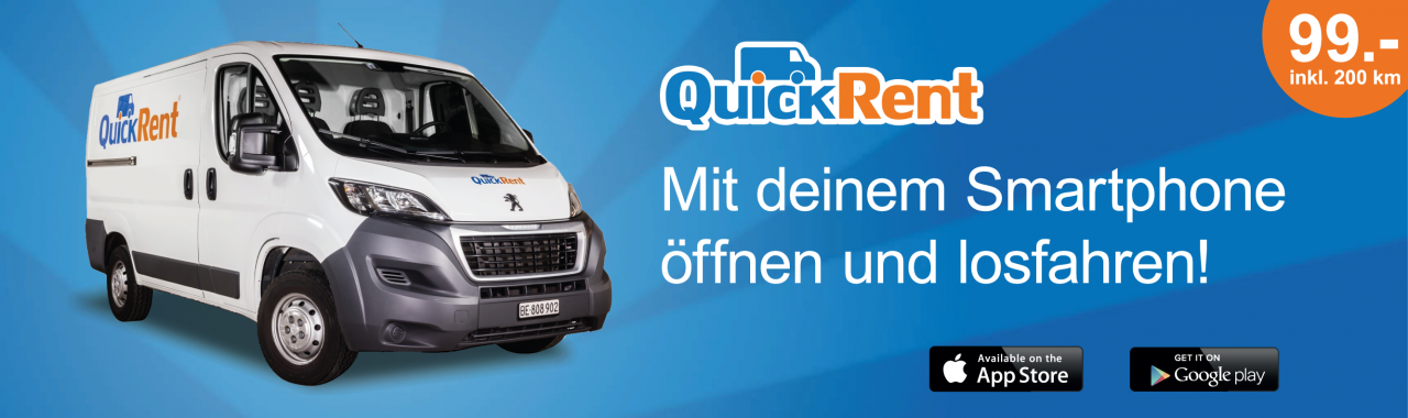 Quickrent - ein Exklusivpartner von Zebrabox