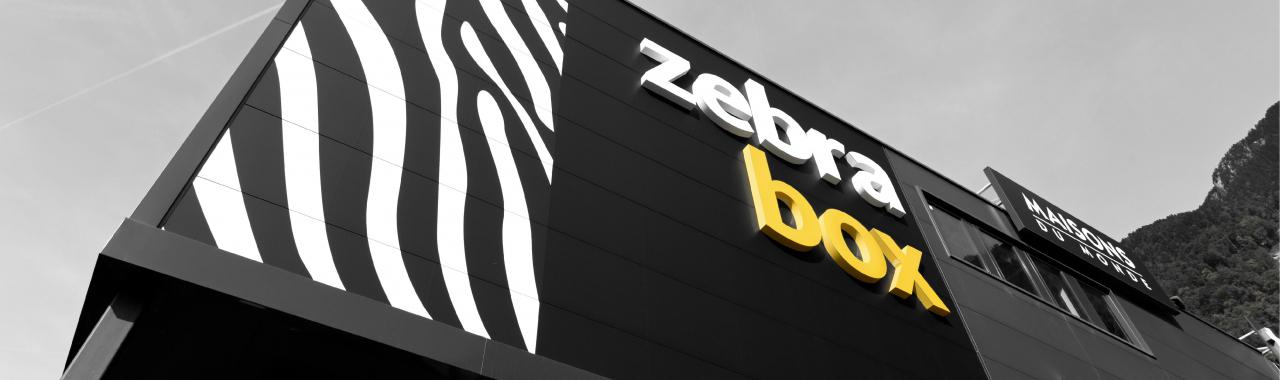 Gebäude von Zebrabox