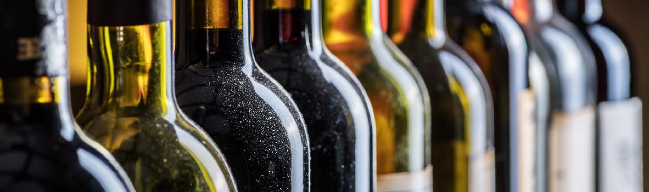 Lagerung von Weinflaschen