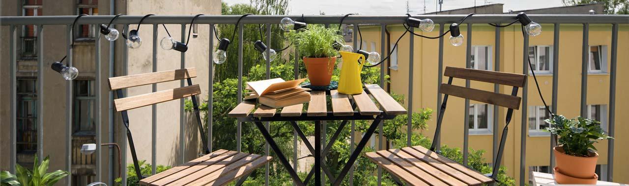 Ferien auf kleinem Balkon