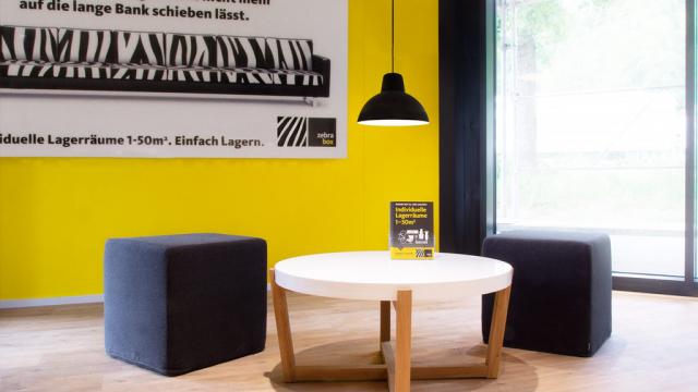 Sitzecke Empfang Zebrabox Winterthur
