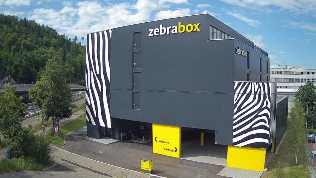 Zebrabox in Winterthur Gebäude